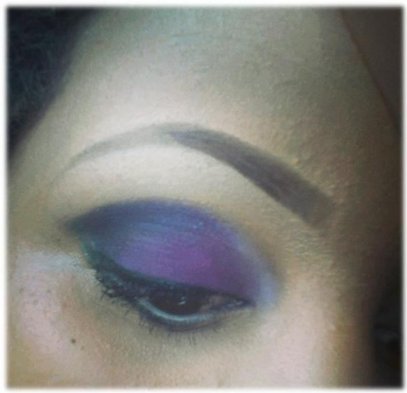 Purple eye from archie girl pallete